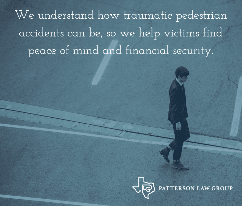 we help pedestrian accident victims in texas