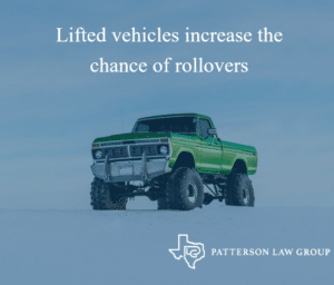 Lifted vehicles increase the chance of rollovers