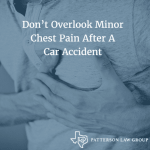 chest pain after an accident