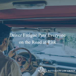 Driver Fatigue Puts Everyone on the Road at Risk