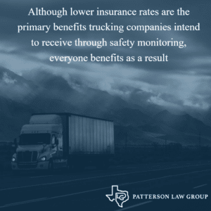 Lower insurance rates after trucking companies add safety
