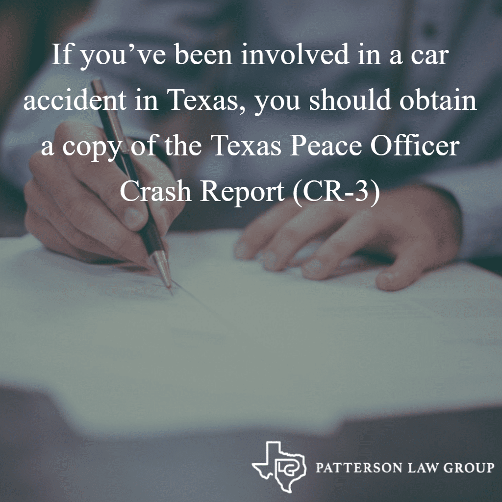 How to Obtain a Copy of a Texas Peace Officer's Crash Report (CR-3)