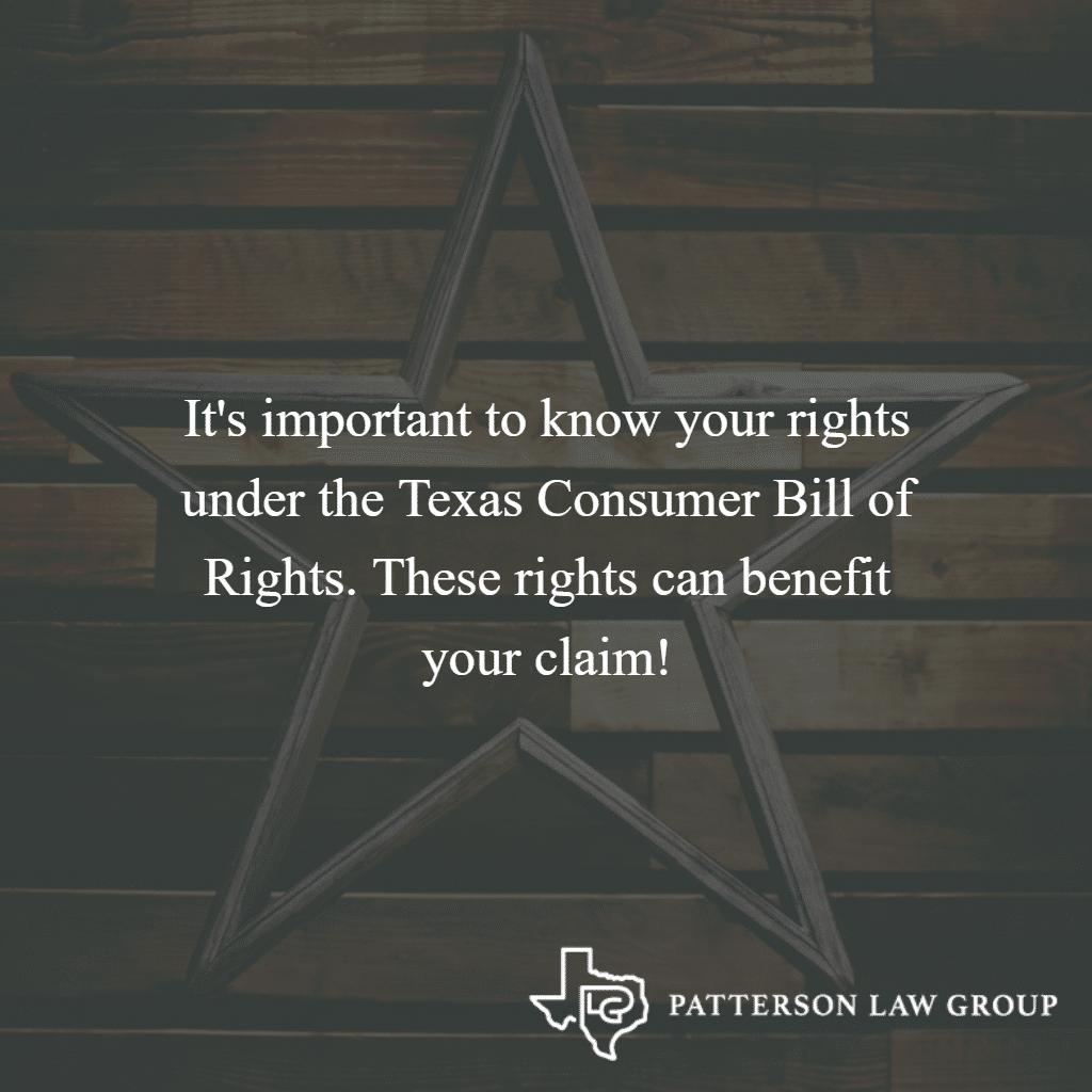 Texas Consumer Bill of Rights