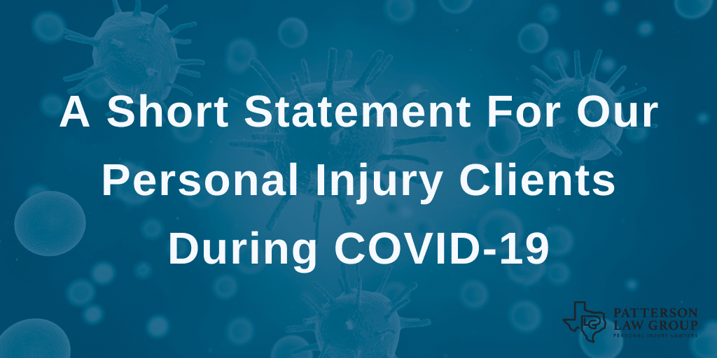 covid19 personal injury texas