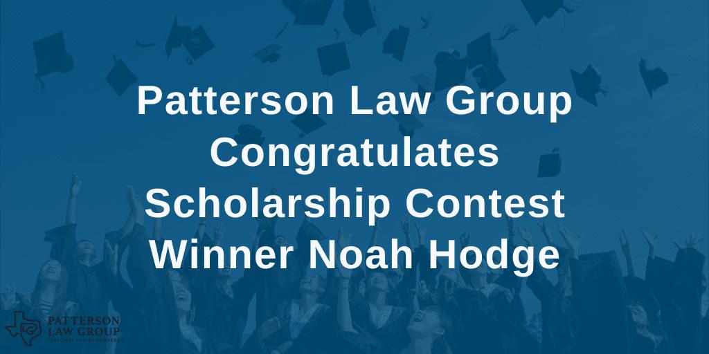 Scholarship contest winner Noah Hodge