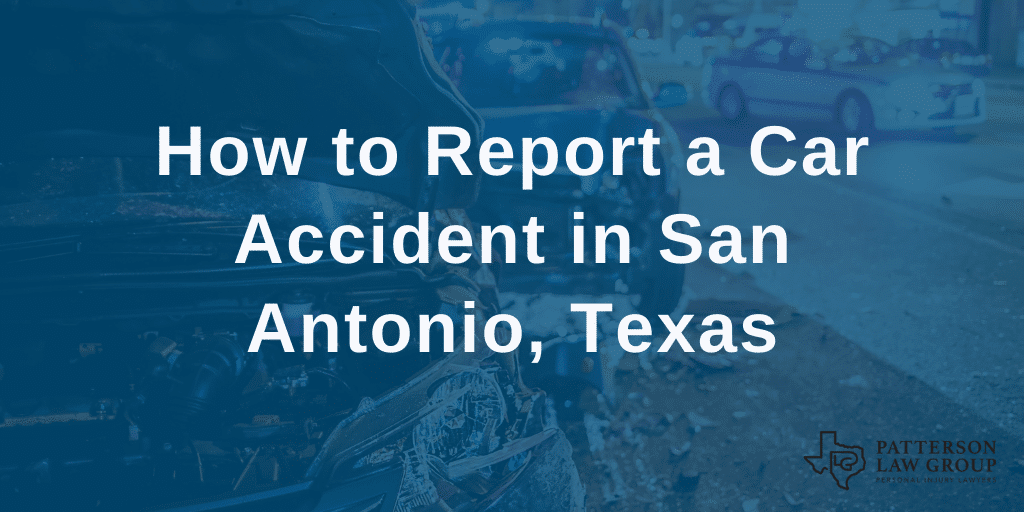 report car accident san antonio texas header
