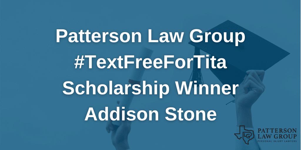 Patterson Law Group scholarship winner Addison Stone