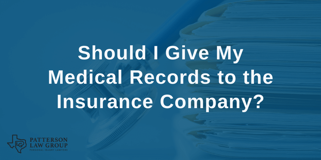 Should I give my medical records to the insurance company?