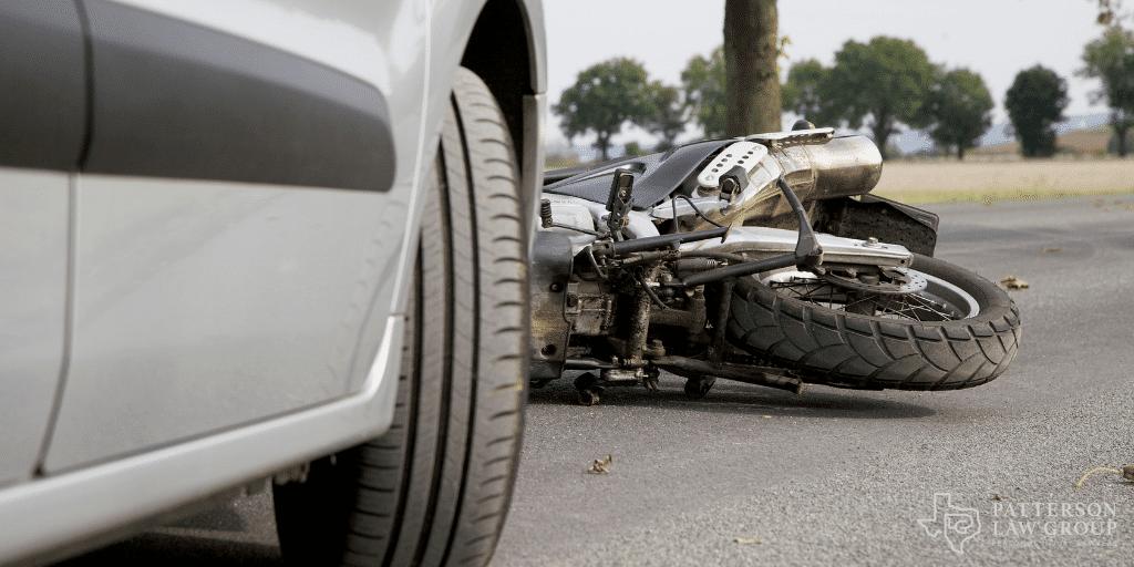 Motorcycle accident scene Texas