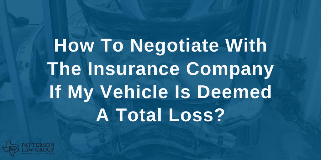 Negotiate a car accident claim Texas