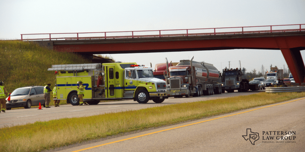 Truck accident near Fort Worth Texas