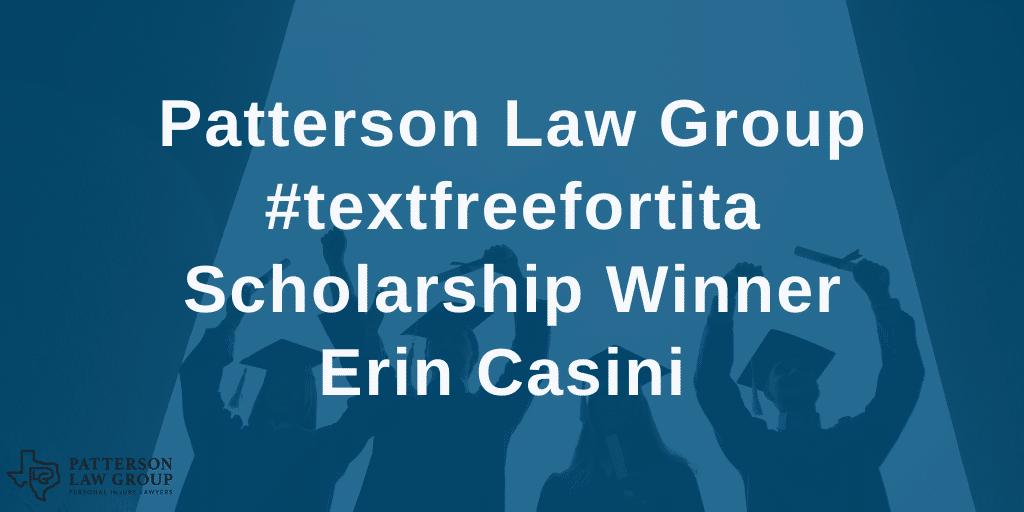Patterson Law Group scholarship winner Erin Casini