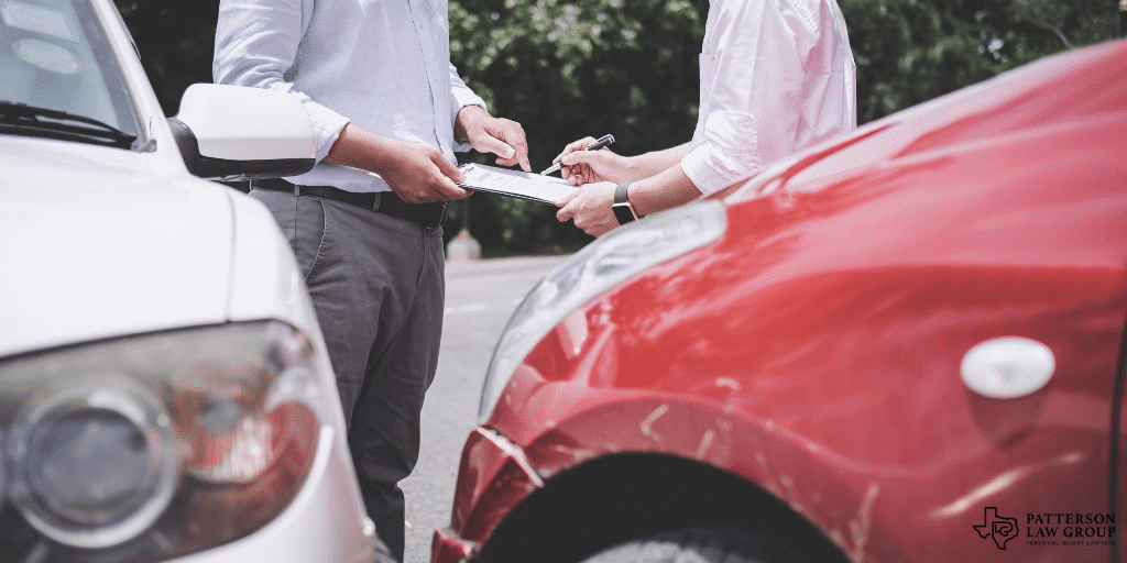 Texas personal injury lawyer describing an accident to the insurance